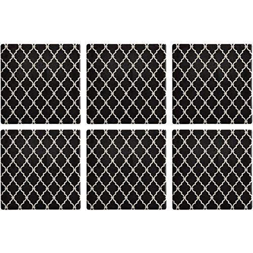Maxwell Williams Medina Drinkonderzetters set met kurkrug, 9 x 9 cm, set van 6