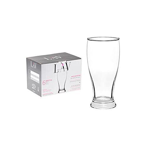 La-V 6 x Set ArtCraft bierpul glas 565 cc, 19 1/4 oz