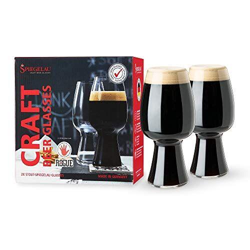 Spiegelau Craft Bierglazen, Stout, Set van 2, Kristal, 600 ml, 4992661