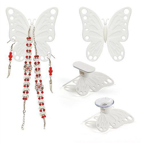 Balvi Volare sieraden-organizer, wit, set met 2 houders voor sieraden, kast of muur, ABS-kunststof, 8 x 7 cm