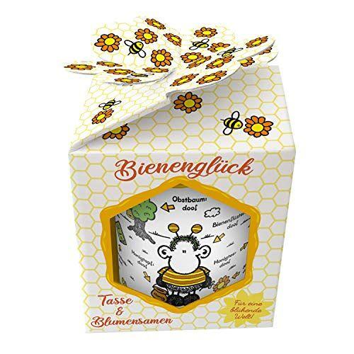 Sheepworld 46551 XL Bijen is alles doof, met wilde bloemzaden, in geschenkdoos mok, porselein