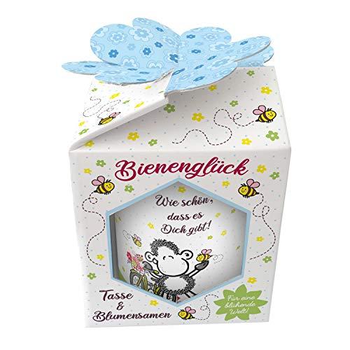 Sheepworld 46554 XL Mooi dass es dich ist, porselein, met wilde bloemzaden, in geschenkdoos, 60 cl beker, 600 milliliter, kleurrijk