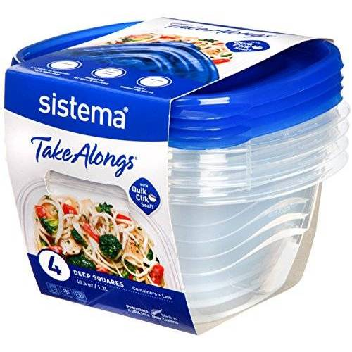 Sistema Takealongs 1.2L Deep Square 4 Pack voedselopslagcontainers