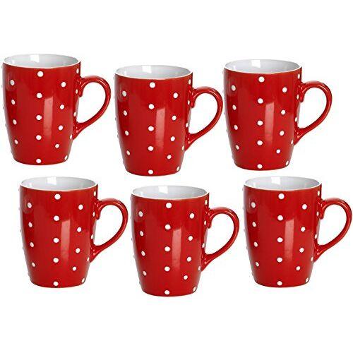 Ritzenhoff & Breker Koffiebekerset Pinto, 6-delig, rood, 320 ml