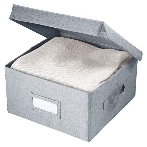 iDesign Codi opbergdoos met deksel, kleine opbergdoos van polyester, grijs