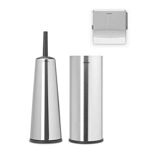 Brabantia ReNew Toiletaccessoires, set van 3 Matt Steel