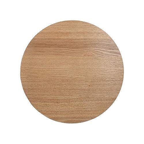 Creative Naturals drankonderzetters van essenhout fineer, 10,5 x 10,5 cm bruin (set van 4)