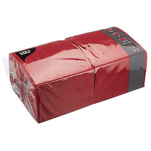 PAPSTAR 77 Servetten, bordeaux, 250 stuks, 33 x 33 cm, 3-laags, 1/8-vouw, in de 250er gastronomie-verpakking, ideaal voor de gastronomie en grote feesten