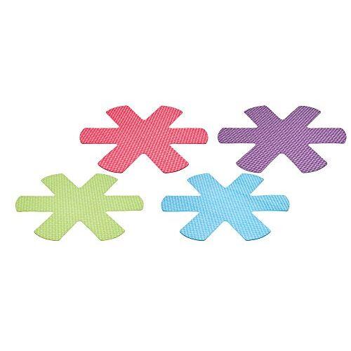 """KitchenCraft Colorworks Anti-Kras Pan Protectors, 38 cm (15"""") 'Brights' kleuren (Pack van 4)"""