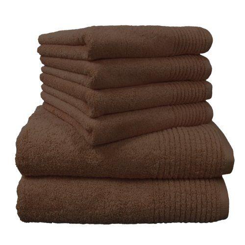 """Dyckhoff 0410996215 handdoekenset """"Brillant"""", 2 badhanddoeken/douchehanddoeken 70 x 140 cm en 4 handdoeken 50 x 100 cm, 6-delig, noten"""