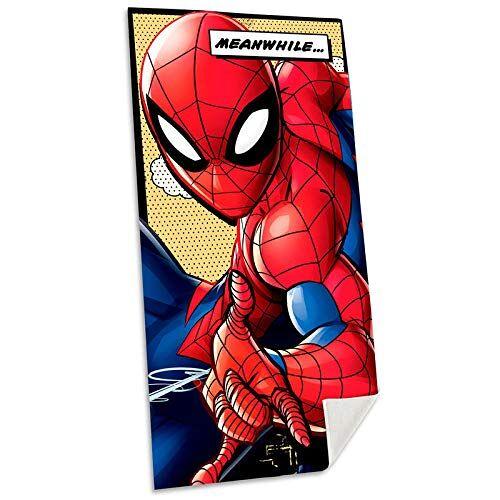 Spiderman Katoen Referentie KD strandlaken Gezichtskleding Huishoudtextiel Unisex Volwassenen meerkleurig (meerkleurig), eenheidsmaat