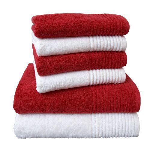 """Dyckhoff 0410996005 handdoekenset """"Brillant"""", 2 badhanddoeken/douchehanddoeken 70 x 140 cm en 4 handdoeken 50 x 100 cm, 6-delig"""