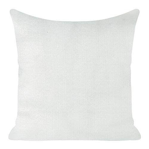 Eurofirany kussenslopen kussenslopen glinsterende oplichtend sofakussenslopen sofakussenslopen decoratiekussen dubbelpak set van 2 kussenslopen decokussen, wit + zilver, 45 x 45 cm