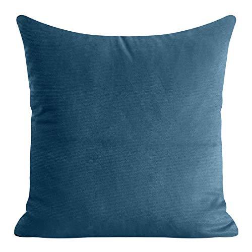 Eurofirany Kussensloop, kussensloop, sofakussen, bedkussen, kamerdecoratie, elegant, exclusief fluweel, zacht, marineblauw, 40 x 40 cm, 2 stuks
