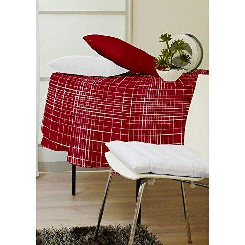 Soleil d'ocre Burgy tafelkleed, tafelzeil, rond, diameter 160 cm, rood