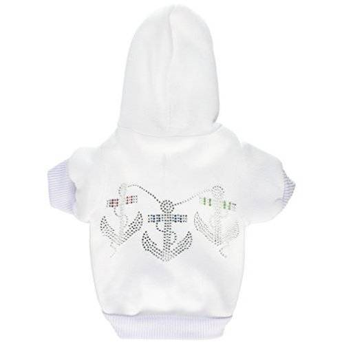 Mirage Pet Products Mirage Strass Ankers Hoodie, X-Small, Crème
