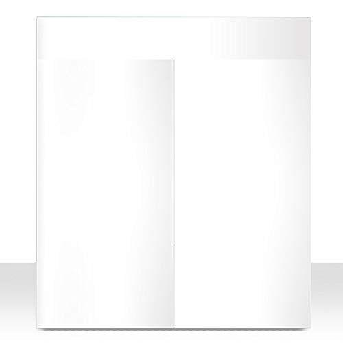 Wave gecoate houten kast, 60 x 40 x 80 cm, wit gelakt