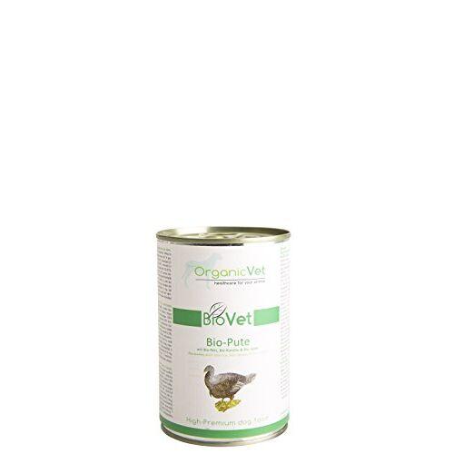 ORGANICVET Hond Natte voeding BioVet Bio-Pute met biologische rijst, biologische carot en biologische appel, 6-pack (6 x 400 g)