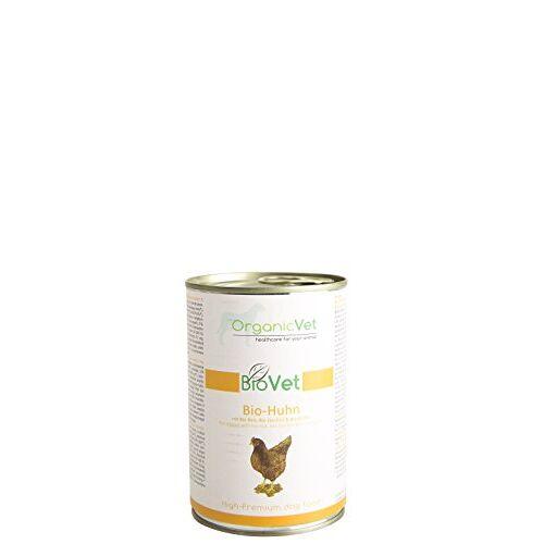ORGANICVET Hond Natte voeding BioVet Biologische kip met biologische rijst, biologische courgettes en biologische pompoenen, 6-pack (6 x 400 g)