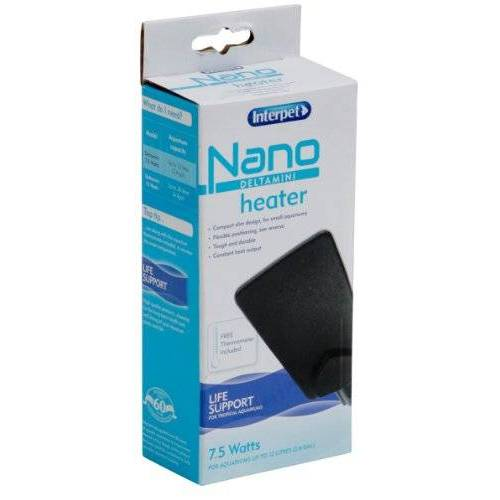 Interpet Delta mini-verwarming voor nano-aquaria, 7,5 watt, voor aquaria tot 12 liter