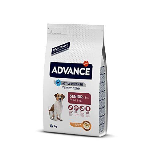 Advance Mini Senior + 8 jaar hondenvoer, 3 kg, per stuk verpakt (1 x 3 kg)