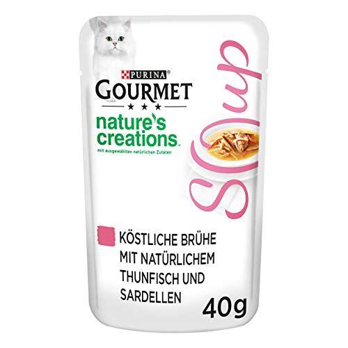 Gourmet Purina  Crystal Soup heerlijke brouwen, met natuurlijke ingrediënten, fraai kattenvoer, diervoeding, aanvullende voeding, set van 32 (32 x 40 g), met vis