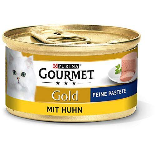 Gourmet Purina  Gold Fine Pastete, Hoogwaardig Kattenvoer, Diervoeding, Zacht Genot, 12 Stuks (12 X 85 G Doos)