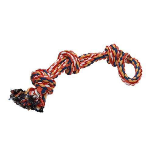 Nobby Rope Toy, speeltouwen kleurrijk 3 knopen dopel; 580 g