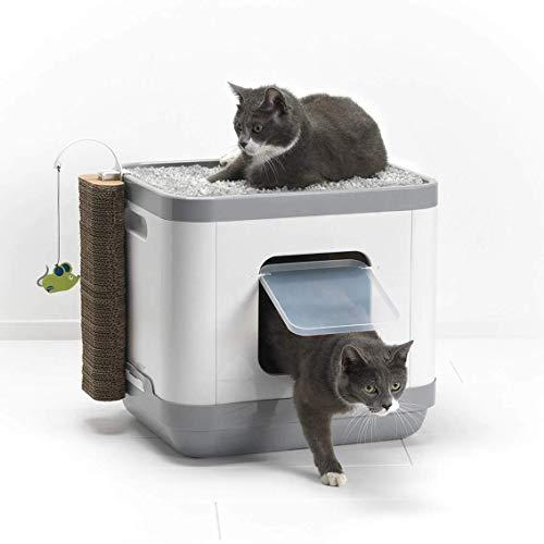 Clean N Tidy Clean'N'Tidy Kattenbak en Speelstation, 47.5 x 39.5 x 42.93 cm, Grijs