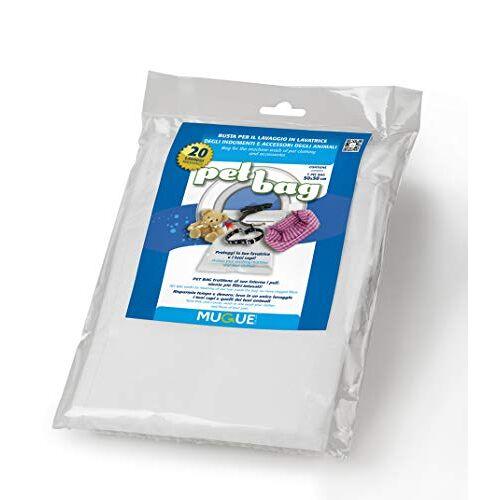 Mugue 28023.0 Pet Bag de wastas voor het wassen van accessoires en kleding van Amici 4 Zampe 95 x 70 cm, wit, L