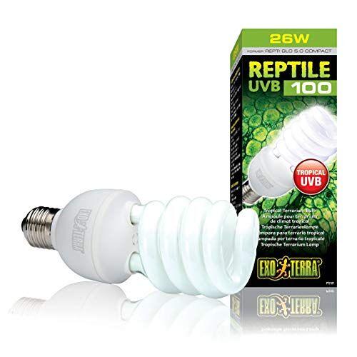 Exo Terra Reptielen UVB 100 Tropenterrariumlamp 25W