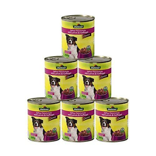 Dehner Hondenvoer senior, lam en gevogelte, 6 x 800 g (4,8 kg)
