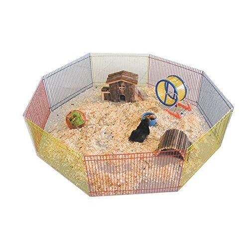Nobby Hamster vrijloop kleurrijk 8 roosters 34 x 23 cm