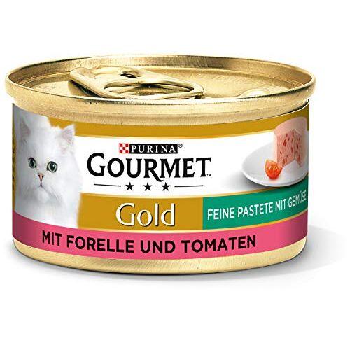 Gourmet Purina  Gold Fijne Pasta, Hoogwaardig Kattenvoer, Diervoeding, Met Groenten, 12 Stuks (12 X 85 G Doos)