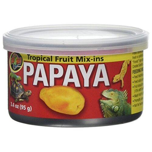 Zoo Med Tropical Fruit Mix-ins Papaya 3 x 95 g, pak van 3 extra diervoeders voor reptielen