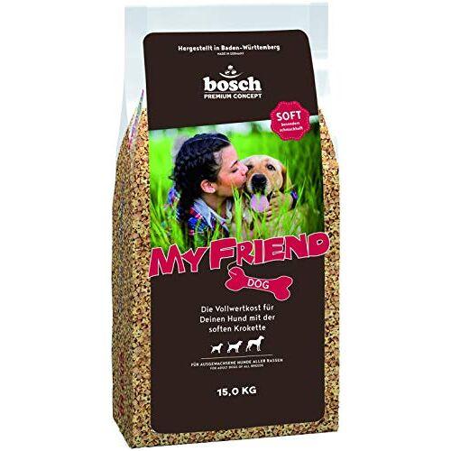 Bosch My Friend Soft Hondenvoer voor volwassen honden van alle rassen   Volwaardig voedsel met zachte krokodillen 15 kg