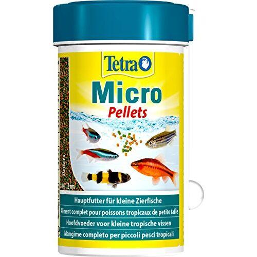 Tetra Micro, voering voor aquariumvissen met kleine mouw, verpakking van 6 (6 x 100 ml), Pellets.