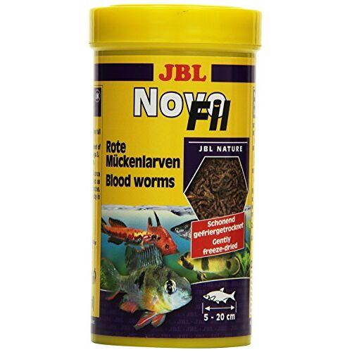 Novo JBL Fil 30270 Aanvullend voer voor kieskeurige aquariumvissen Rode muggenlarven, 250 ml