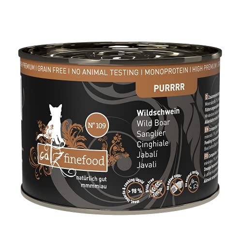Catz finefood Purrrr monoproteïne kattenvoer, nat kangoeroe, kip, zalm, lam, schaap en varken, 6 blikjes per soort of in multipack, 190 g-200 g