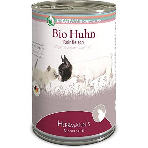 Herrmann's Herrmanns Bio kip, 100 procent, verpakking van 12 (12 x 400 g)