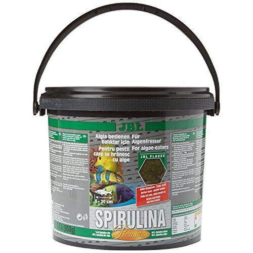 JBL Spirulina 30003 Premium complete voeding voor algenetende aquariumvissen, vlokken 5,5 l
