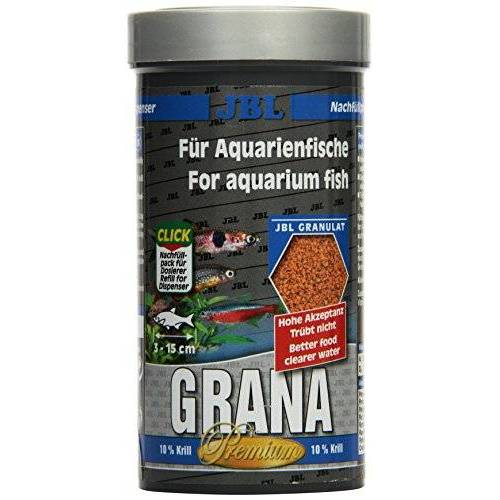 JBL Grana 40512 Premium Volledig voeder voor kleine aquariumvissen, granulaat 250 ml