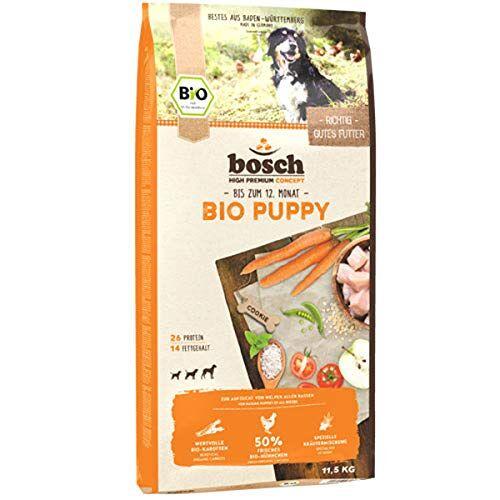 Bosch HPC BIO   Puppy Kip & Wortelen   Hondenvoer voor puppy's van alle rassen   100 % grondstoffen van gecertificeerde biologische landbouw   1 x 11,5 kg