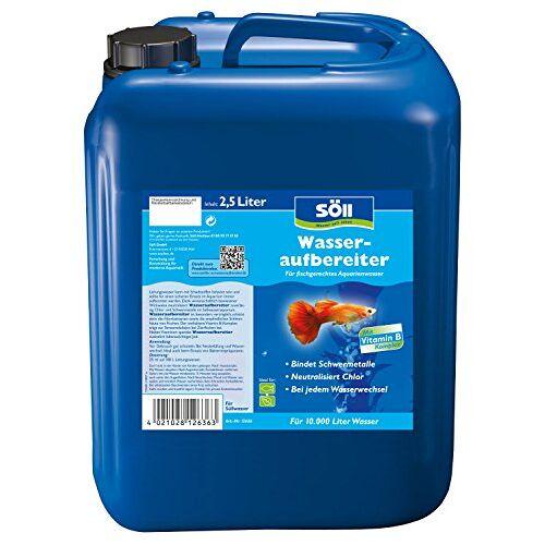 Söll 12636 Waterzuiveraar Aqua 2,5 liter voor 10.000 liter aquariumwater waterreiniging voor leidingwater in zoetwateraquaria door schadelijke stoffen binding en extra vitaminen