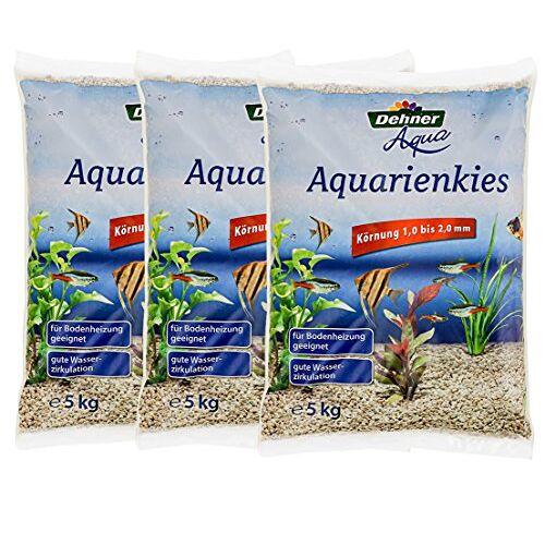 Dehner Aqua aquariums, korrel 1-2 mm, 3 x 5 kg (15 kg), wit