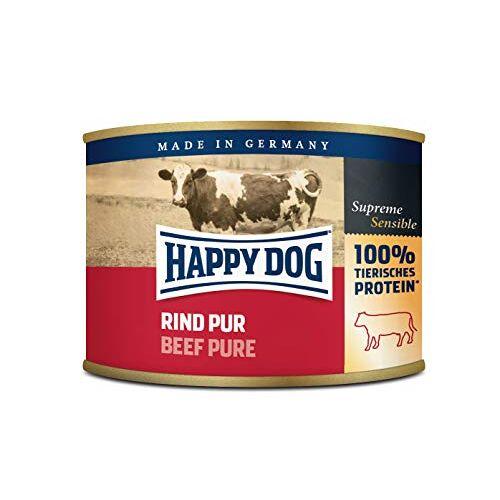 Happy Dog Vlees blikjes rundvlees Puur, 200 g, 12 stuks (12 x 200 g)