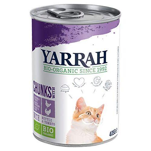 Yarrah Biologisch kattenvoer broodjes kip en kalkoen 405 g, verpakking van 12 (12 x 405 g)