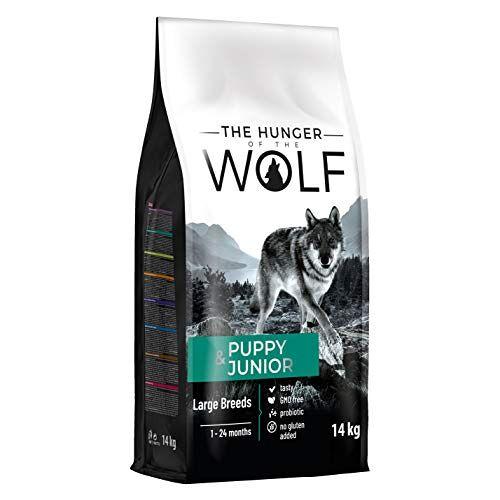 The Hunger of the Wolf Droogvoer voor puppy's en jonge honden, grote en zeer grote rassen, lam en rijst, 14 kg