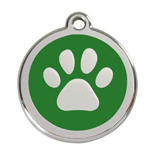 Red Dingo Voetafdruk Identificatieplaat, SMALL, Groen, 0,03 kg