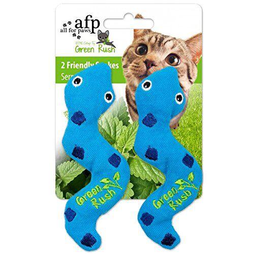 AFP Green Rush speelgoed Alberne slang met kattenmunt-speelgoed, 12 g, 2-delig